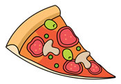 Image result for pizza slice clipart